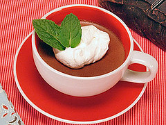 "Post image for Rachael Ray's Chocolate ""Pots de Creme"" Cups with Whipped Cream"