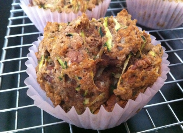 Post image for Low-Sugar and Whole Wheat Zucchini Muffins with Pecans
