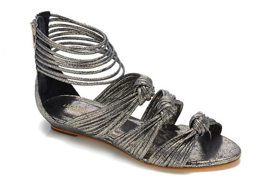 6b297bc64c5 Mignon Knot Sandals by Loeffler Randall (in denim metallic)