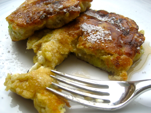 Fluffy Avocado Cottage Cheese Pancakes