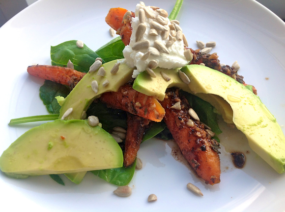 Post image for Cumin Roasted Carrot & Avocado Salad