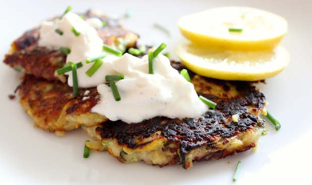Zucchini Chive Fritters