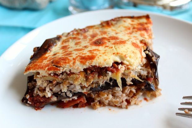 Vegetarian Moussaka — the chic brûlée