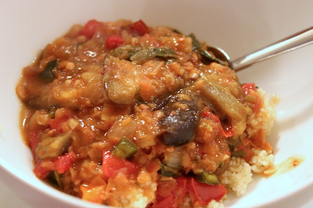 Post image for Eggplant and Lentil Stew with Pomegranate Molasses