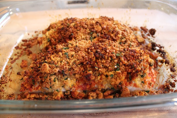 New England Baked Cod with Ritz Cracker Crumbs — the chic brûlée