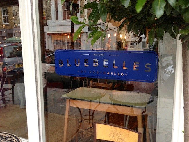 Post image for The Search for Brunch in Notting Hill: Bluebelles of Portobello