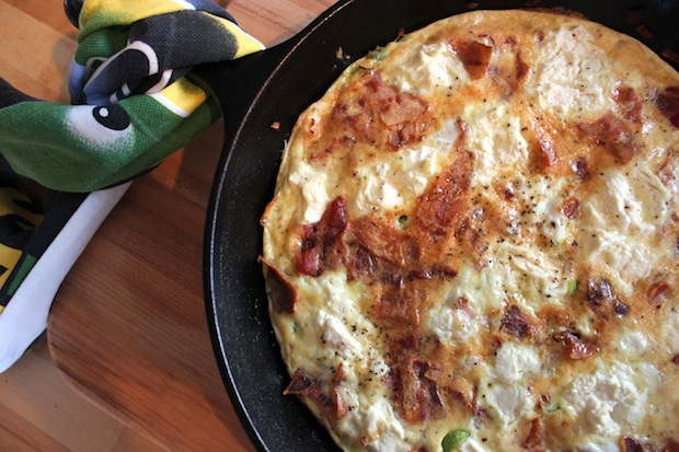 Post image for Frittata with Bacon & Fresh Ricotta