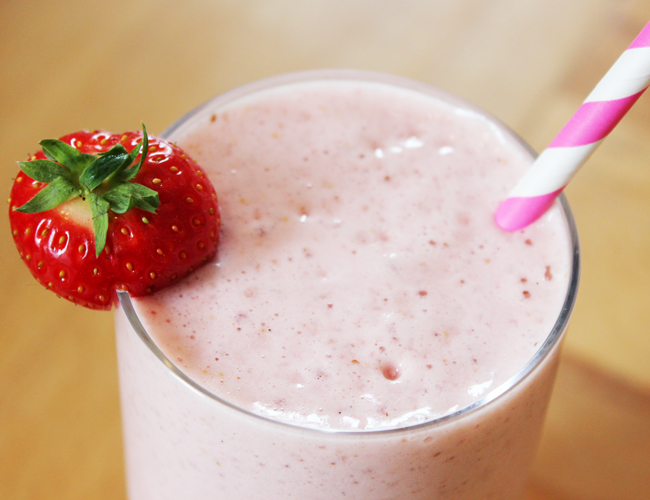 Post image for Strawberry Vanilla Protein Shake