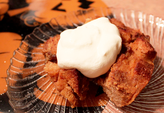 Post image for Easy Pumpkin Rum Bread Pudding