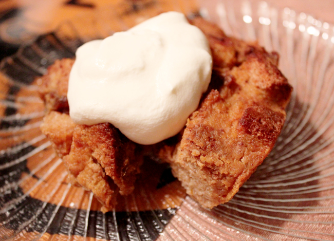 Easy Pumpkin Rum Bread Pudding — the chic brûlée