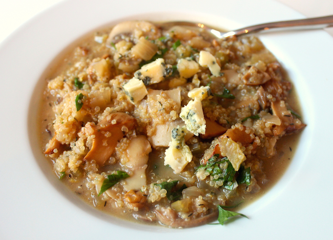 Mushroom and Stilton Quinoa Risotto